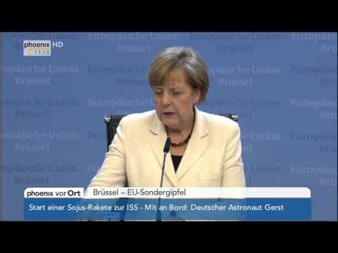 EU-Sondergipfel - Angela Merkel zum künftigen Kommissionspräsidenten am 28.05.2014