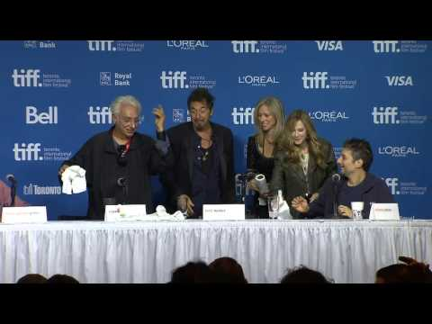 TIFF 2014: Al Pacino spills water during 'Manglehorn' press conference
