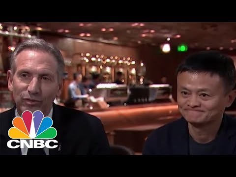 Former Starbucks CEO Howard Schultz & Alibaba Founder Jack Ma On Starbucks In China | CNBC