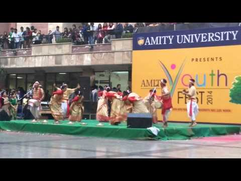 Amity Youth Fest 2014- Bihu Dance video