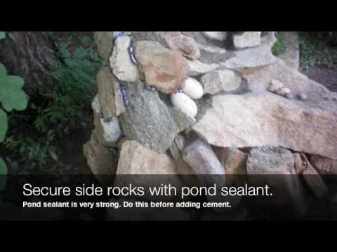 How to Make a Waterfall. Stream and Pond