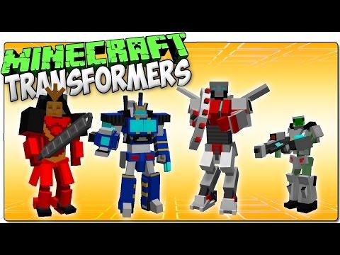 TRANSFORMERS MOD RENOVADO   Minecraft mod de transformaciones en robot   MOD REVIEW 1.7.10 ESPAÑOL