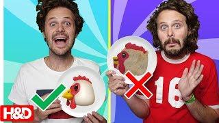 PANCAKE ART CHALLENGE!! (Twin vs Twin Emoji Edition)