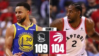 Warriors even NBA Finals at 1-1 with Game 2 win vs. Raptors | 2019 NBA Finals Highlights