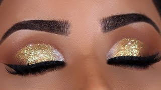 GOLD SPARKLY INDIAN BRIDAL EYE MAKEUP TUTORIAL