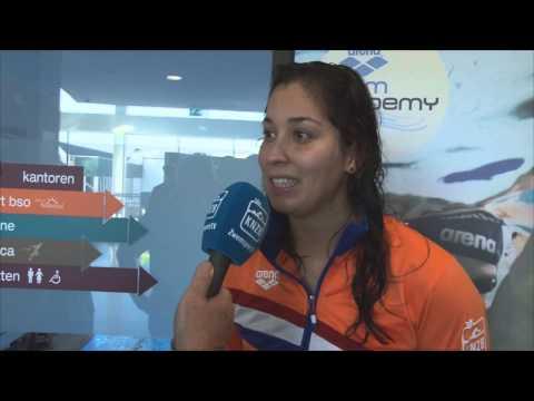 Interview met Ranomi Kromowidjojo op zaterdag - ONK Tilburg 2014
