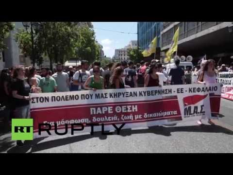Greece: Hundreds protest against government's 'barbaric' pension reforms
