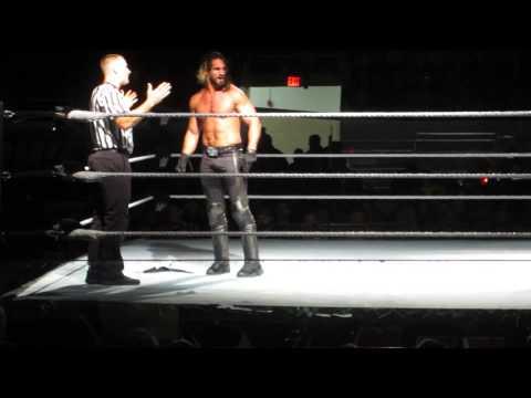 Seth Rollins vs Roman Regins  - WWE Championship -  Halifax May 2nd 2015