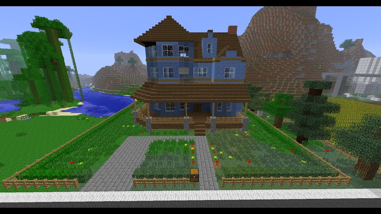 Minecraft building victorian house in time lapse youtube for Time to build a house