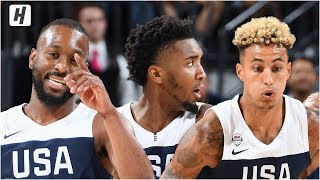 USA Blue vs USA White - Full Game Highlights | August 9, 2019 | USA Basketball