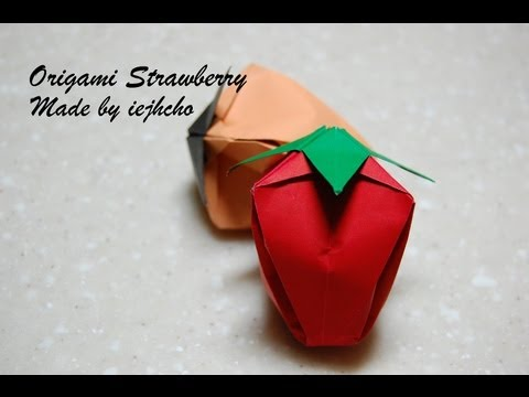 Origami Strawberry(Fruit) Video / 종이접기 딸기(과일) 접는 방법 동영상