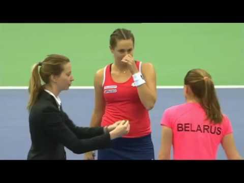 2018 FED CUP ALIAKSANDRA SASNOVICH - YANA CEPELOVA HIGHLIGHTS