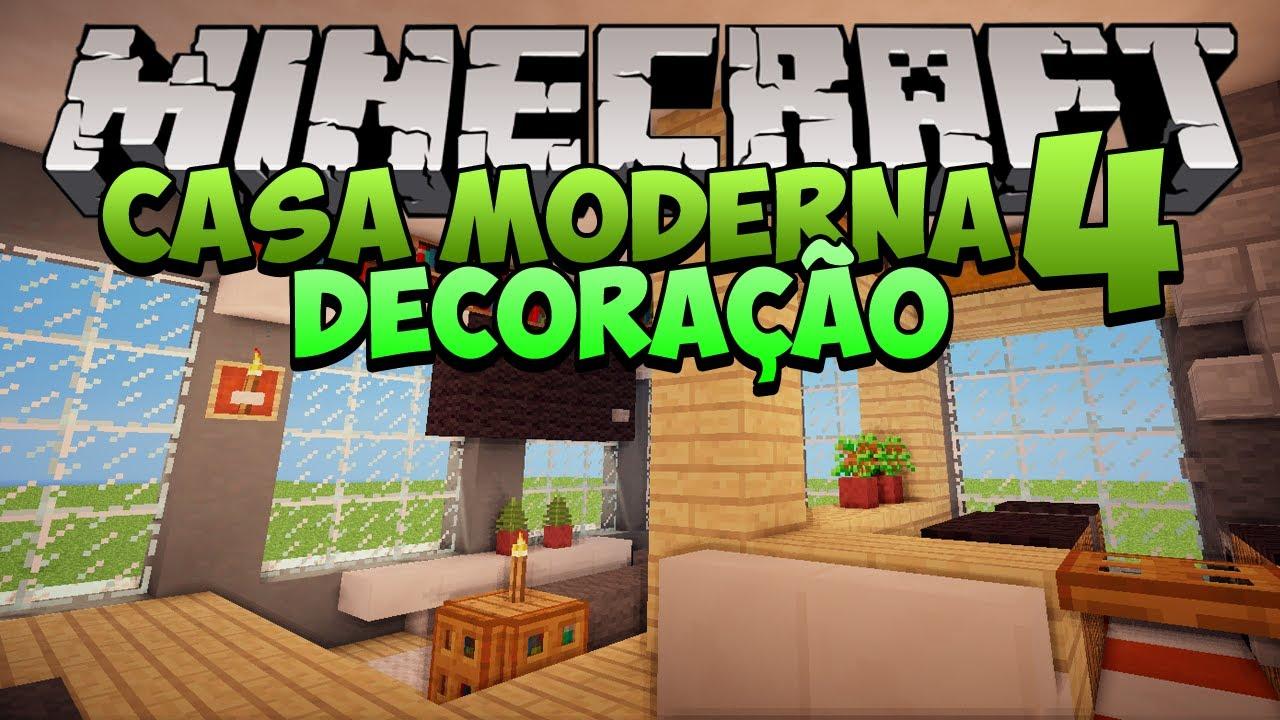 Minecraft Decoração da Casa Moderna 4  YouTube -> Decoracao De Banheiro No Minecraft