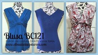 Confección Blusa BC121 con nudo adelante