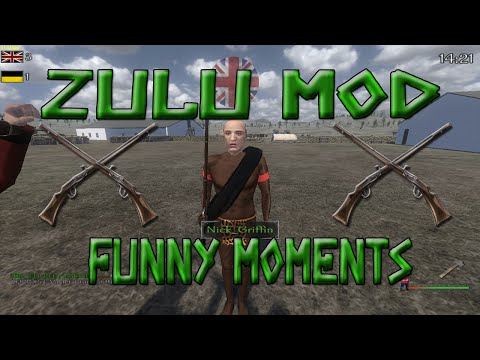 Mount and Blade Mods  Zulu Mod Hilarious Moments  *I liked them better when they were naked*