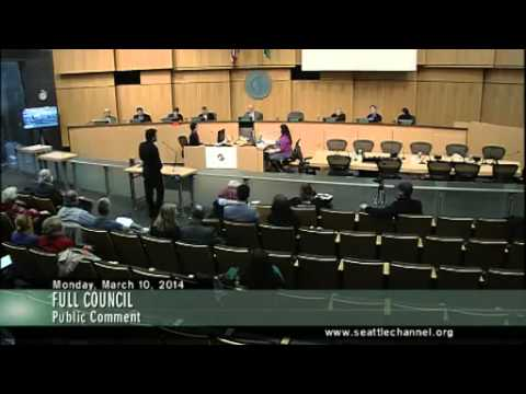 Seattle City Council - 2014-03-10 - DHS UASI Grant and Public Comment