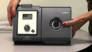 How to work the Respironics 250 CPAP machine
