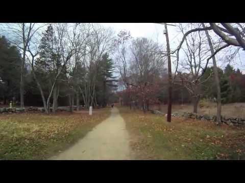 Battle Road Trail & Authors Ridge. Nov 2013. Virtual Cycling/Jogging. Bike trainer video.