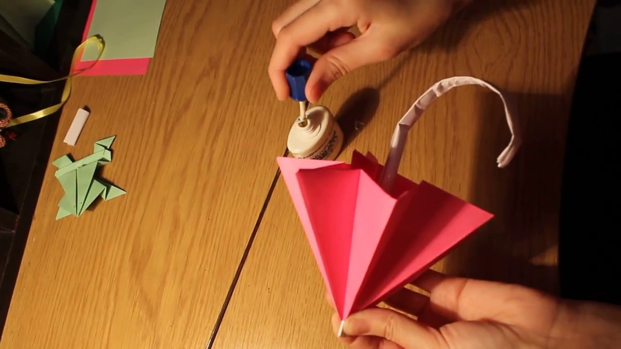 Origami Umbrella  That Open and Closes new  YouTube
