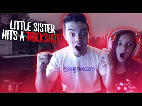 Little Sister Hits A Trickshot!! video