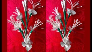 How to make beautiful flowers with cigarette paper   Diy cigarette paper flower