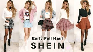 SHEIN Fall Try-On Haul 2019 | Summer To Fall Transition Outfits