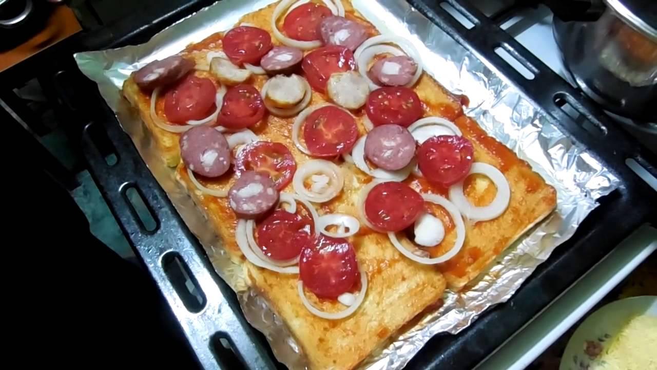 Как сделать пиццу с хлебом в микроволновке