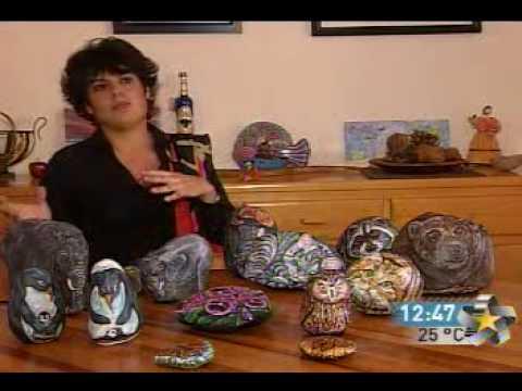 Piedras con arte youtube for Piedras pintadas a mano paso a paso