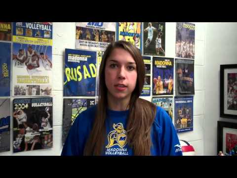11/15/13 - Madonna University Volleyball - Kayla Vogel vs. Indiana Tech Post Match.