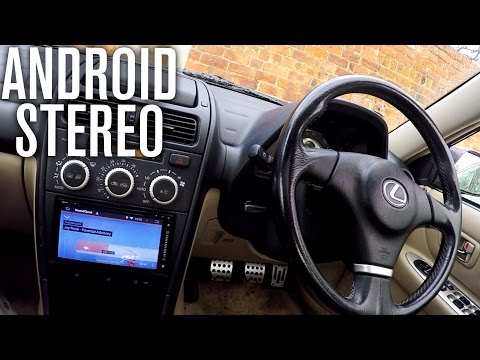 ANDROID STEREO REPLACEMENT INSTALL | Lexus IS200 Car Vlog!