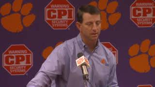 TigerNet: Dabo Swinney press conference, pt. 2