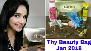 Thy Beauty Bag January 2018 | Unboxing & Review | Organic Skincare & Makeup Monthly Subscription