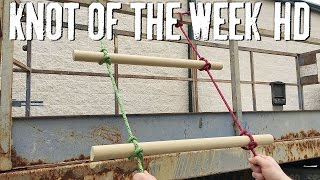 Create a Field Expedient Rope Ladder with the Ladder Lashing - ITS Knot of the Week HD