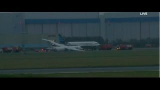 LIVE stream Schiphol Flybe 1284 plane accident/emergency MayDay call