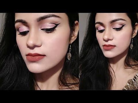 सिर्फ 1ऑयशैडो NO FOUNDATION Minimum Products Makeup TUTORIAL In HINDI