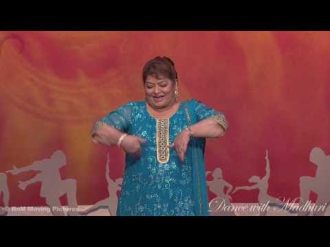 Saroj Khan teaching Expressions on Dance with Madhuri