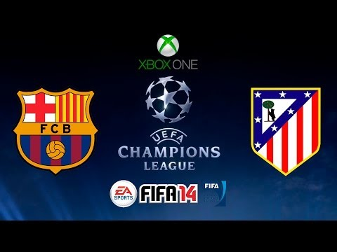 FIFA 14 - CHAMPIONS LEAGUE- F.C. BARCELONA vs ATLETICO DE MADRID - XBOX ONE - GAMEPLAY - HD