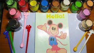 Đồ chơi tô màu tranh cát trẻ em | Hướng dẫn tô màu tranh cát chuột Mickey | BuBu TV
