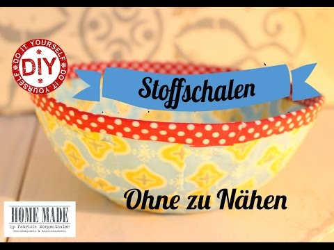 How To I Upcycling - Stoffschalen Aus Stoffresten I Deko Inspirationen Selbstgemacht