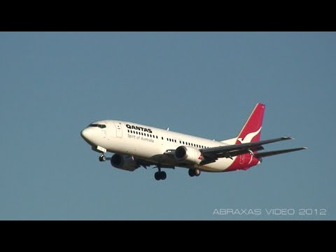 View in 1080HD! A Qantas 737-476 [VH-TJZ] landing at Sydney as QF560 from Canberra. Operator: Qantas Airways Aircraft: Boeing 737-476, VH-TJZ 'Port Pirie' Flight: QF 560, Canberra - Sydney...