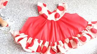 Doted Baby Dresses For Baby Born Cut & Stitch Tutorial 2018