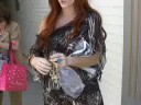 Phoebe Price promoting her new line of head bands