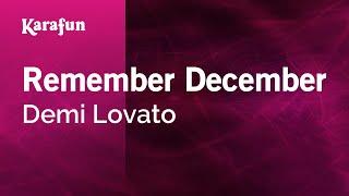 Karaoke Remember December - Demi Lovato *