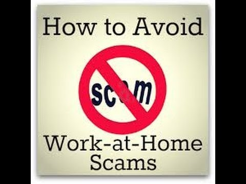 Work from Home Scams - Avoid work from home scams