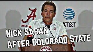 Nick Saban's Press Conference following Colorado State
