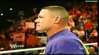 WWE RAW 11/22/10 JHON CENA SE DESPIDE DEL UNIVERSO DE LA WWE EN ESPAÑOL