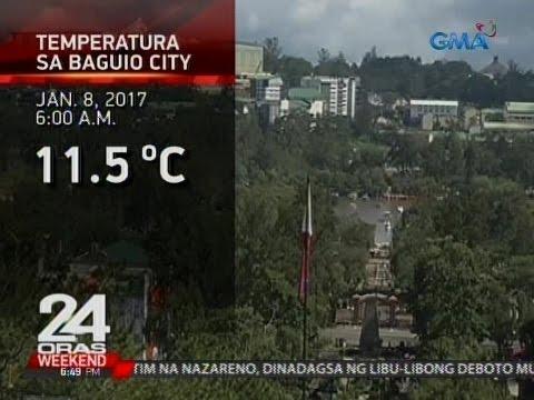 Pinakamababang temperatura sa Metro Manila at Baguio City, naitala ngayong araw