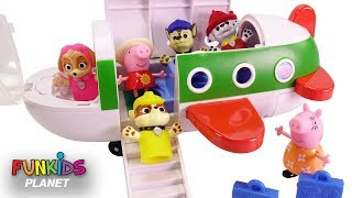 Paw Patrol and Peppa Pig Magical Airplane Vacation
