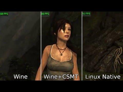 [LinuxBenchmark] Tomb Raider Linux vs Wine comparison