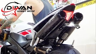 Yamaha YZF-R1 WGP 50th Anniversary Edition 2012 Exhaust Twobrothers Black Series SOUND! (istimewa)